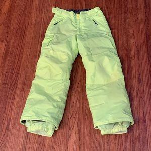 Champion Fluorescent Yellow Snow Pants Size 6/7